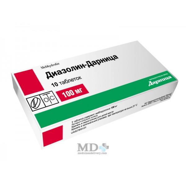 Diazolinum dragee 100mg #10