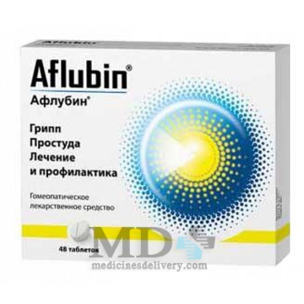 Aflubin homeopathic sublingual tablets #48