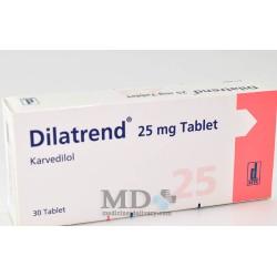 Dilatrend tablets 25mg #30