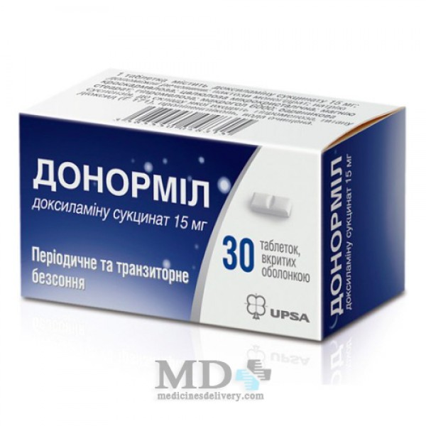 Donormyl UPSA tablets 15mg #30