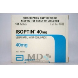 Isoptin tablets 40mg #100