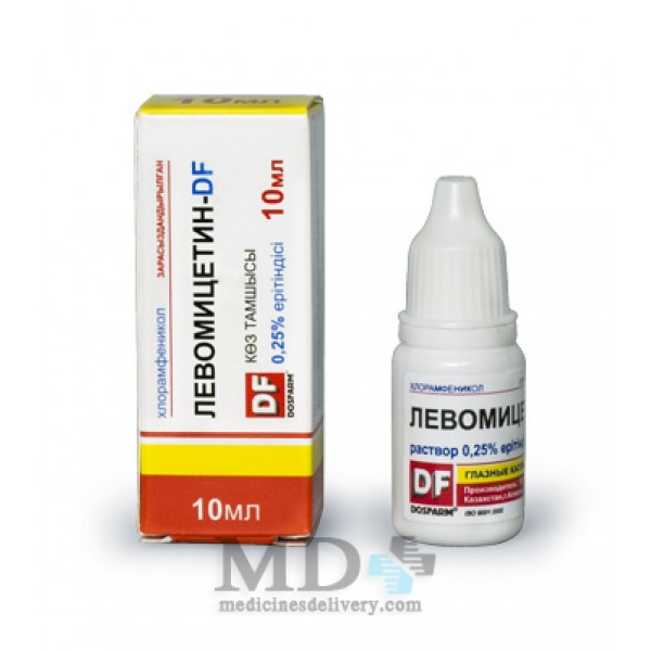 Laevomycetin ophthalmic drops 0,25% 10ml