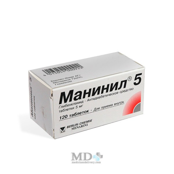 Maninil tablets 5mg #120