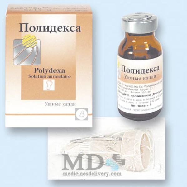 Polidexa (Polydexa) ear drops 10.5ml